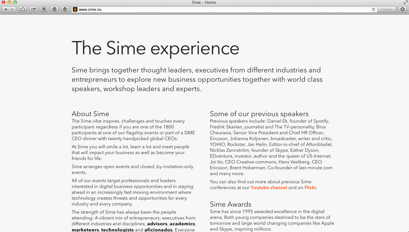 SIMe website 2