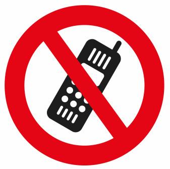 Mobilförbud skylt