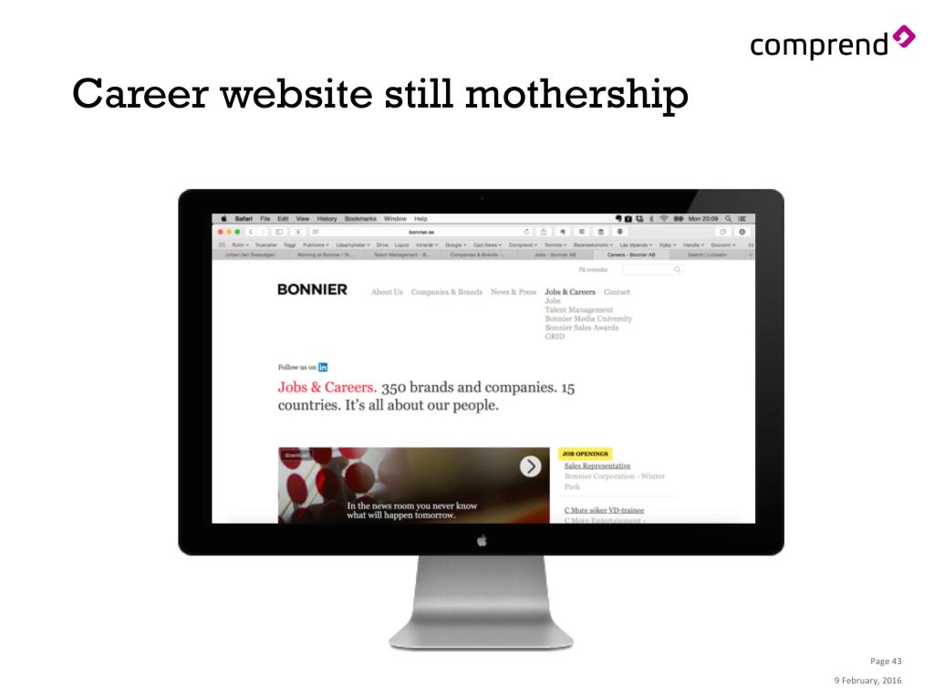 Bonnier Digital Forum - website still mothership