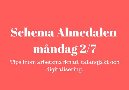 Schema för Almedalen måndag 2_7
